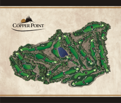 full map layout in the copper point yardage book