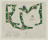 falcon ridge yardage book with full map