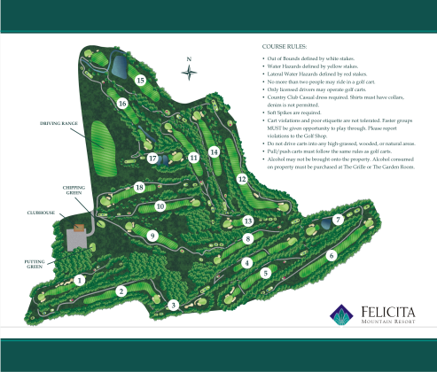 full map layout in the felicita yardage book