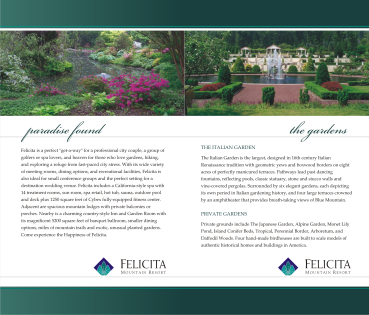 felicita yardage book layout course promotion page