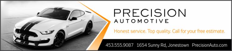 automotive repair advertisement for a golf scorecard