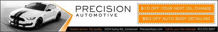 triple sized advertisement for an automotive shop
